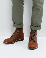 Red Wing Blacksmith Leather Lace Up Boots In Copper