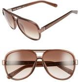 Bobbi Brown Women's 'The Jake' 59Mm Aviator Sunglasses - Brown