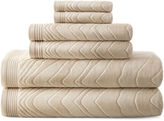 Liz Claiborne Sculpted 6-pc. Cotton Bath Towel Set