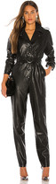 Ronny Kobo Alie Faux Leather Jumpsuit