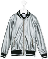 Le Petit Coco metallic (Grey) bomber jacket