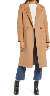 Halogen Double Face Wool Coat
