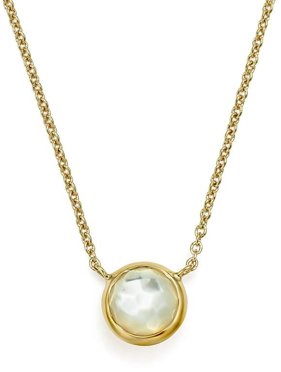 "Ippolita 18K Gold Mini-Lollipop Necklace in Mother-of-Pearl, 16"""