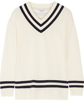 Frame Striped Wool And Cashmere-blend Sweater - Ivory