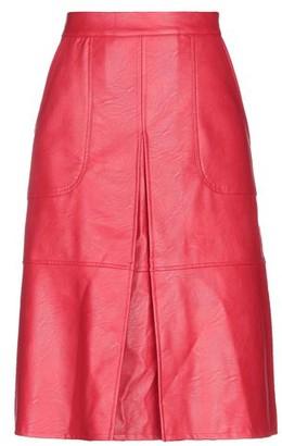 Biancoghiaccio Knee length skirt