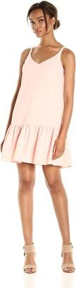 Trina Turk Women's Conservatory Classic Crepe Drop Flounce Dress