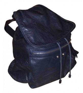 Balenciaga Navy Leather Backpacks