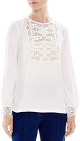 Sandro Casey Lace-Trimmed Top
