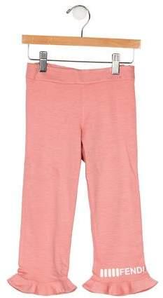 Fendi Girls Ruffle Pants