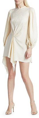 Johanna Ortiz Love Me Do Blouson Sleeve Mini Dress