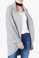 7 For All Mankind Oversize Cardigan In Greystone Blue