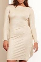 Lauren Ralph Lauren Side Ruche Metallic Jersey Dress (Plus Size)