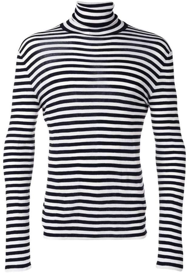 Saint Laurent striped roll neck sweater