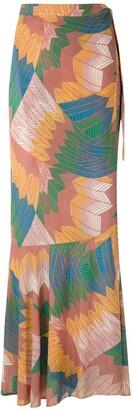 AMIR SLAMA Cocar wrap skirt