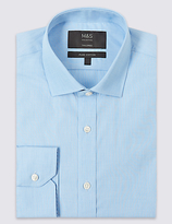 M&S Collection Pure Cotton Easy to Iron Tailored Fit Shirt