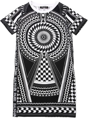 Balmain Printed Cotton Jersey Dress