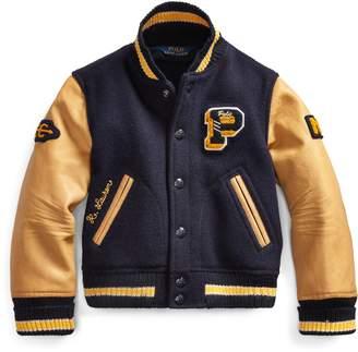 Ralph Lauren Wool-Leather Letterman Jacket
