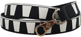 Les Petits Joueurs Laser-Cut Leather Strap for Handbag, Black/White