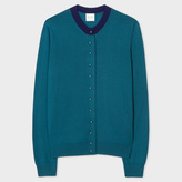 Paul Smith Women's Teal Merino Wool Cardigan With Pearl Buttons
