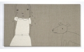 Pin It K Studio Crying Wall Art - Natural With Black Stitch