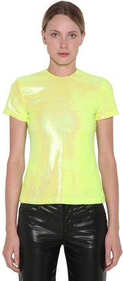 MM6 MAISON MARGIELA Sequined Short Sleeve Top