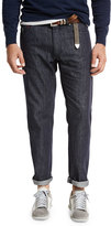 Brunello Cucinelli Dark-Wash Denim Jeans, Dark Blue