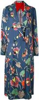 Diane von Furstenberg floral double-breasted coat - women - Silk/Polyester/Spandex/Elastane - XS