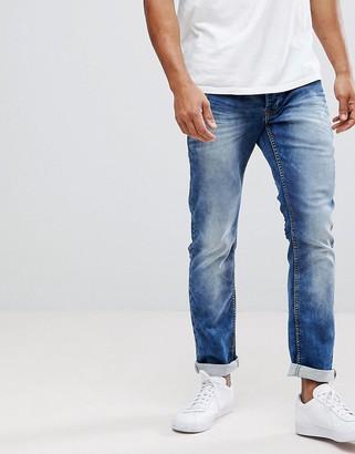 Solid Slim Fit Jeans In Hybrid Denim-Blue