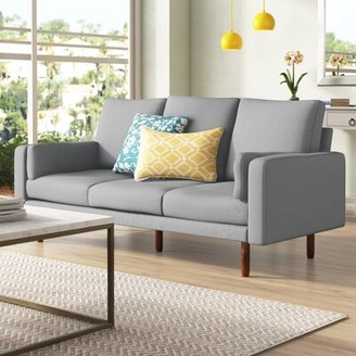 "Pasadena 34"" Square Arm Sofa Capsule Home Upholstery Color: Light Gray"