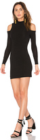 Blq Basiq Cold Shoulder Mini Dress in Black. - size 0 (XS/S) (also in 1(M/L))