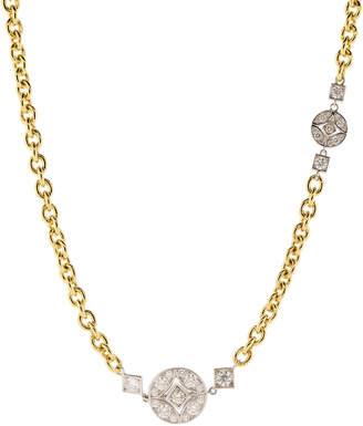 Mariani Long Lucilla Diamond Station Necklace