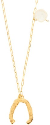 Alighieri The Flashback Pearl & 24kt Gold-plated Necklace - Womens - Yellow Gold