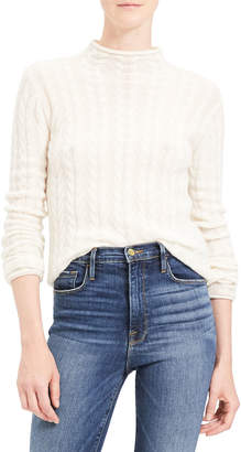 Theory Cable Mock-Neck Cashmere Sweater