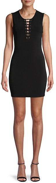 BCBGeneration Lace-Up Sleeveless Mini Dress