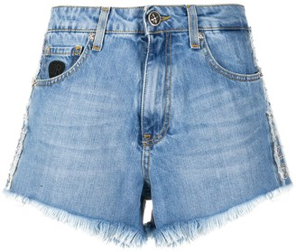 John Richmond Embellished Denim Shorts