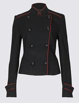Per Una Contrast Piped Jacket