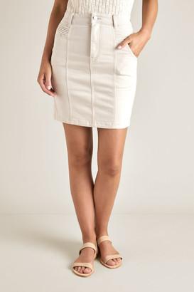 Seed Heritage Denim Pintuck Pocket Skirt