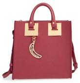 Sophie Hulme Square Leather Tote - Red