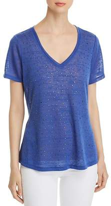 Sioni Studded V-Neck Tee