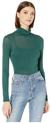 BCBGeneration Turtleneck Layering Long Sleeve (Optic White) Women's Clothing