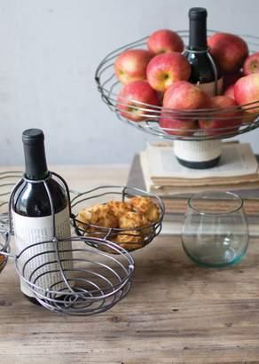 KALALOU Wire Wine Basket Bottle Topper