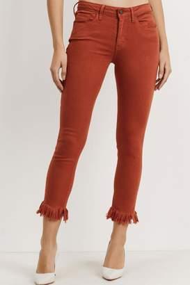 Just Black Fringe Cropped Jeans
