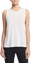 The Row Canto Round-Neck Racerback Top, White