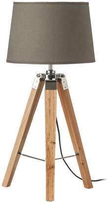 Interiors By Premier Wood Base Tripod Table Lamp