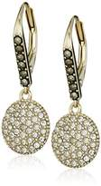 """Judith Jack Classics"""" Gold-Tone Sterling Silver and Swarovski Drop Earrings"""