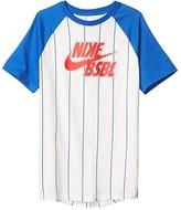Nike Baseball Pinstripe Tee (Little Kids/Big Kids) (Sail/Game Royal) Boy's Clothing