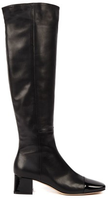 Gianvito Rossi Black Nappa Leather Over The Knees Boots