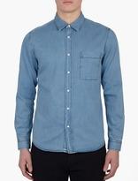 Ami Blue Cotton Denim Shirt