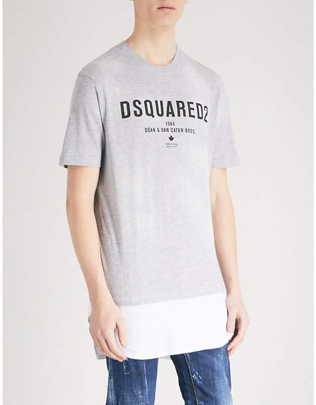 DSQUARED2 Logo-detail jersey T-shirt