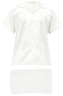 Cleverly Laundry - Superfine-cotton Sateen Pyjama Set - White